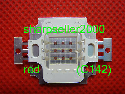 100p 10w Red Led High Power 600lm Lamp Prolight Star Led Light Bulb 6 Watt