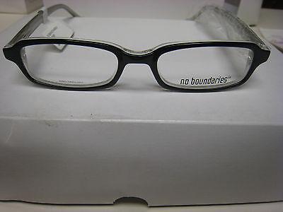 NO BOUNDARIES  EYEGLASS FRAMES Style MANCHESTER BLACK 48-16-140   (Eyeglass Style)