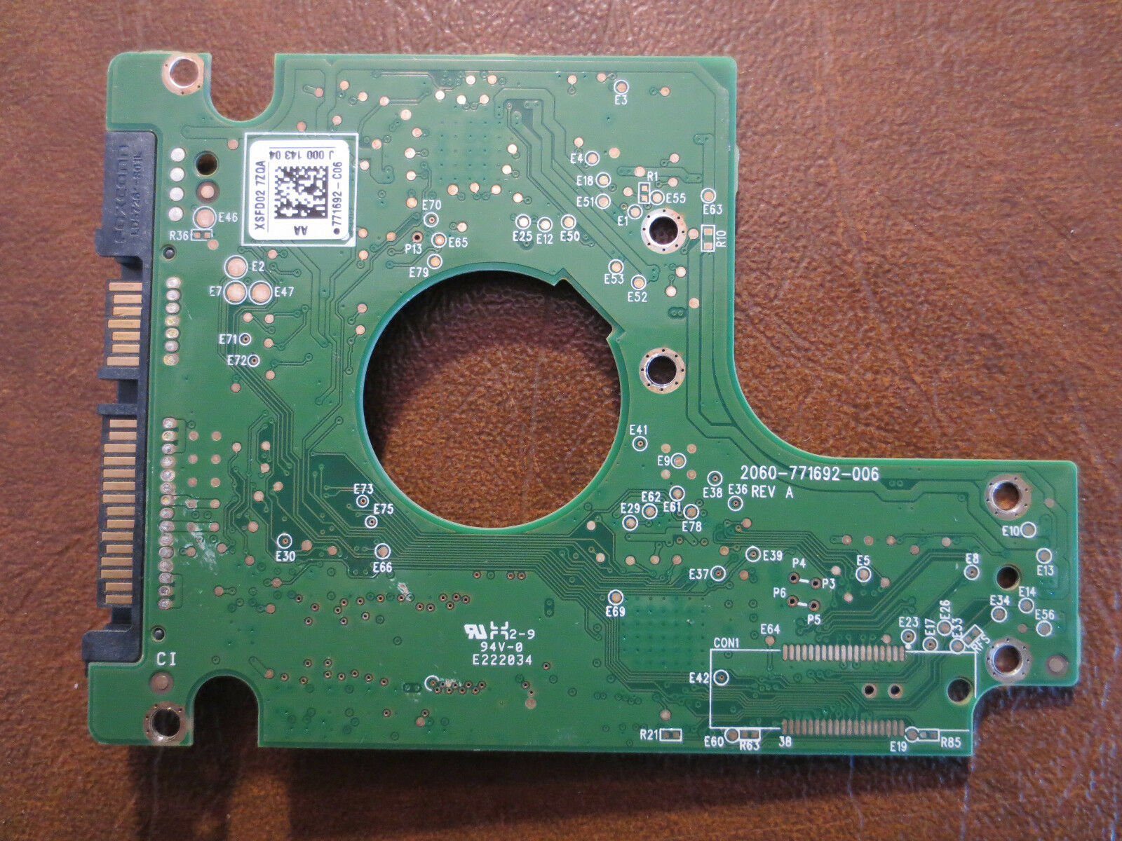 Macs Portables Pcb Hdd 320gb Wd Wd3200bevt 22zest0 2060-771672-004 Rev A 2060-771672-e04 04pd3 Portables, Netbooks