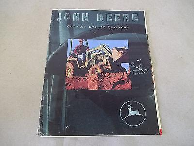 John Deere Compact Utility Tractors Sales Brochure 955 70a 7 870 440 8a 45 1070