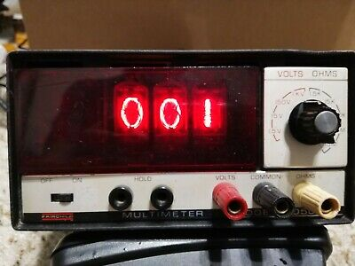 Fairchild 7050 Nixie Tube Volts Ohms Meter Multimeter Antique Vintage W Manual