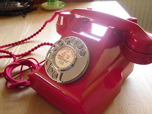 Vintage Red Bakelite telephone