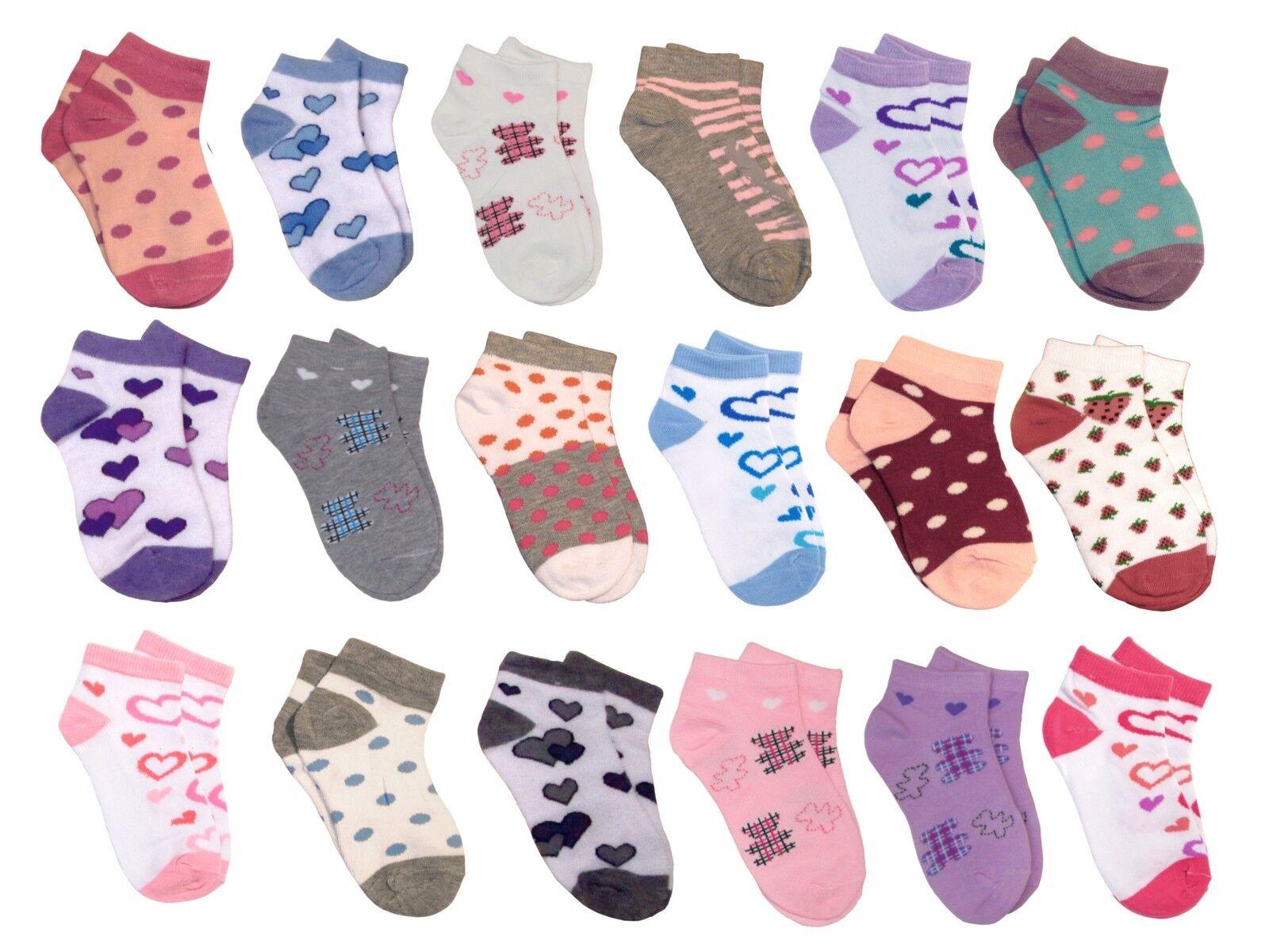 12 24 36 x Mädchensocken Gr. 23-38 Mädchen Socken Sneakersocken Sneaker Socken