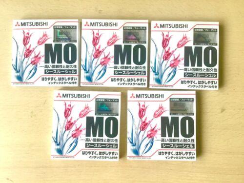 5× 230MB 3.5 inch Rewritable MITSUBISHI MO DISC