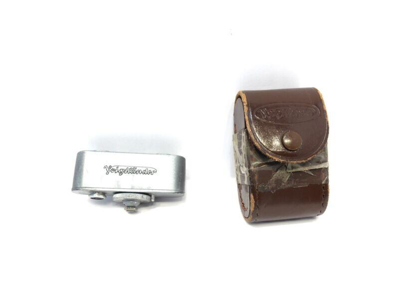 Vintage Voigtlander Rangefinder With Case, 3.5-60 Feet