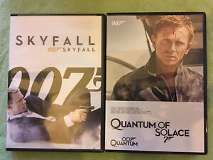 Quantum of Solace and Skyfall James Bond 007 DVD's