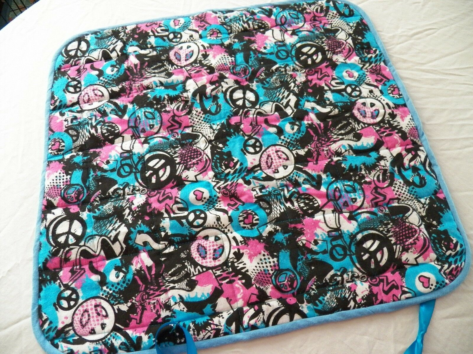 BABY CHANGING PAD Portable Diaper Travel Mat Cotton Washable Padded Handmade NEW 6