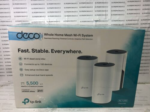 TP-Link - Deco AC1200 DECO M4 Dual-Band Mesh Wi-Fi System (3-Pack) - White