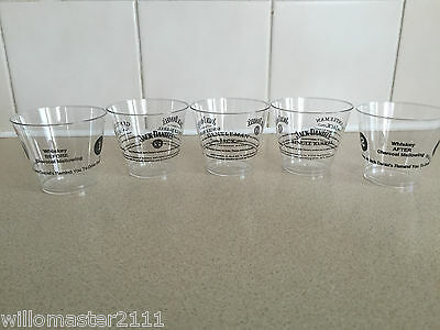 5    JACK DANIELS   TASTING   CUPS  VERY RARE FROM 2009