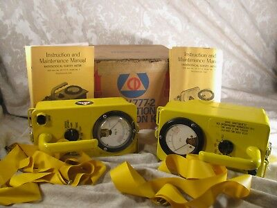 2 Victoreen Radiological Radiation Detection Survery Meter Kits Cd717 Cd V715