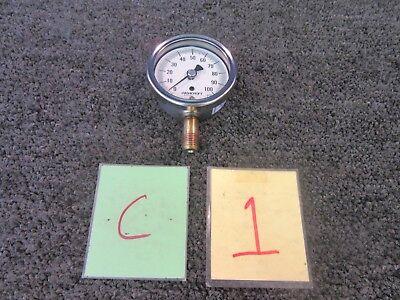 Ashcroft 0-100 Psi 2-12 Air Pressure Gauge Gage Dial Aisi 316 Tube Bronze New