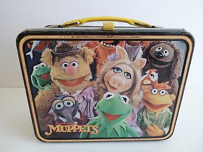 VINTAGE 1979 THERMOS JIM HENSON'S MUPPETS  METAL LUNCH BOX NO THERMOS