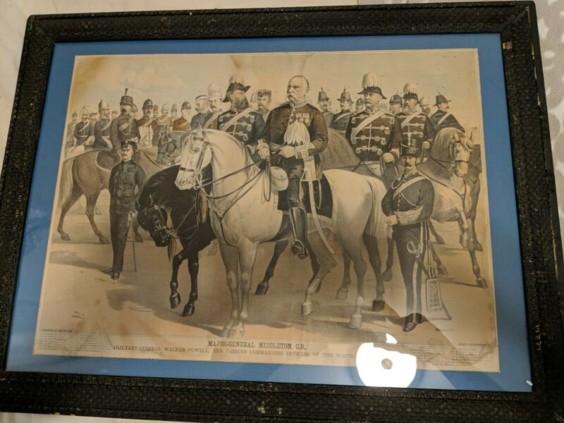 UNIQUE History. NORTHWEST REBELLION. 1885 Print. Canadiana. Riel. NWMP.