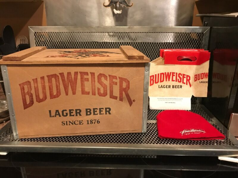 BUDWEISER LIMITED EDITION 2015 VINTAGE STYLE 1876 Wood Wooden Crate + BONUS