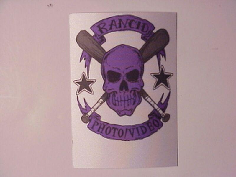 Rancid satin cloth backstage pass Purple Rectangle !