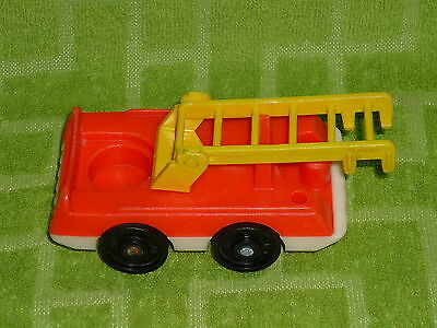 Half Price Toy - Fisher Price Little People Vintage Red Fire Truck Half Yellow Ladder