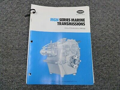 Twin Disc Mgn-1027h Transmission Assembly Dimensional Specifications Manual