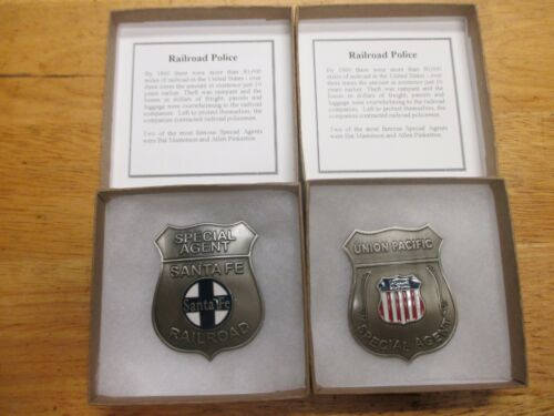Railroad Two Badge Set--Replica--Old West