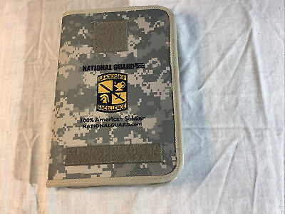 Us Army National Guard Binder Folder Portfolio Digital Camo Notepad 100 Guard
