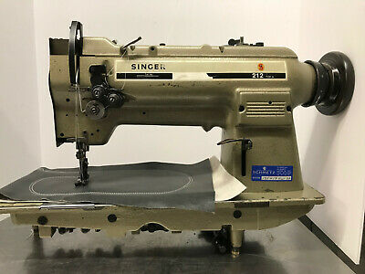 Singer 212u539a 2 Needle Lockstitch Walking Foot Industrial Sewing Machine