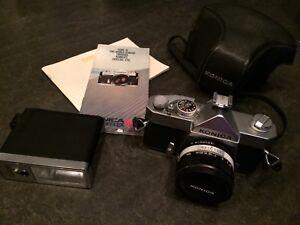 Caméra vintage Konica autoreflex T