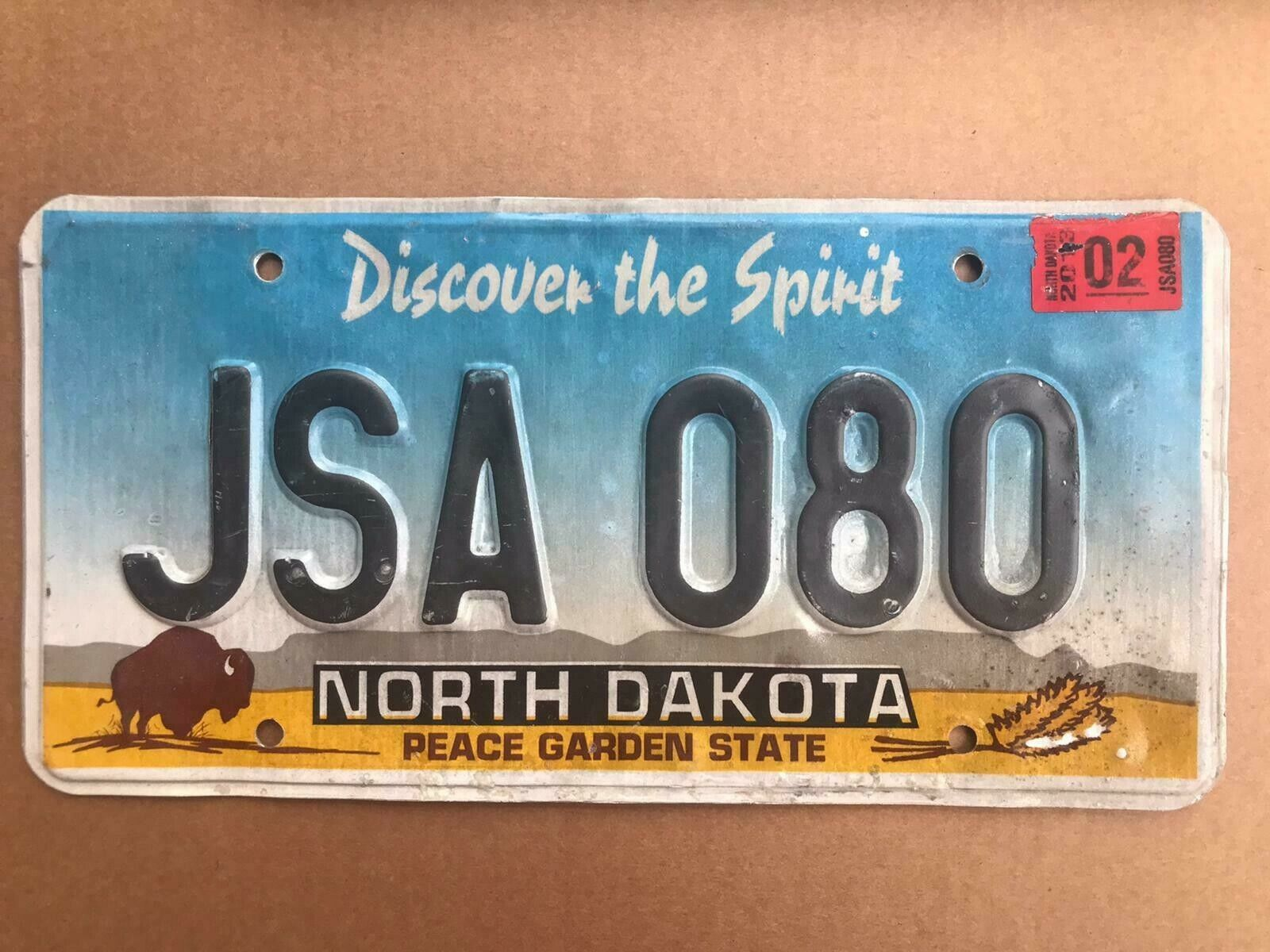 North Dakota Kennzeichen Grafik USA Nummernschild License Plate Schild Top!