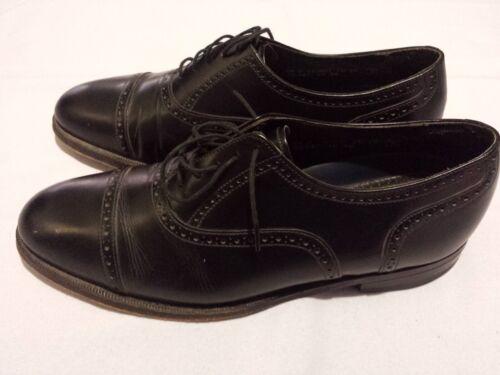 Florsheim Imperial Mens Oxford Cap Toe Black Leather Dress Shoes Mens sz 8.5