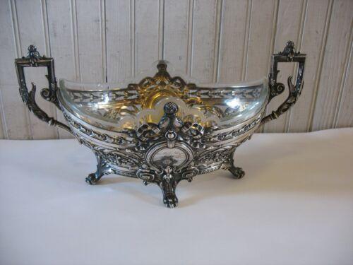 German 800 Silver Presentation bowl with liner A. SCHELLENBERG Wiesbaden 1901