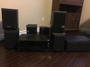 Ultimate Sony/JBL 7 speaker surround sound with receiver