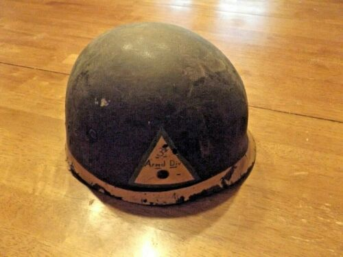 WWII PAINTED US ARMY HELMET LINER I