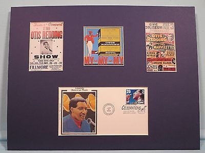 Saluting Rock & Roll Great Otis Redding &  First day Cover of his own stamp