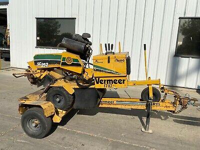 2013 Vermeer Sc252 25hp Kohler Self Propelled Stump Grinder Wtrailer 686 Hours