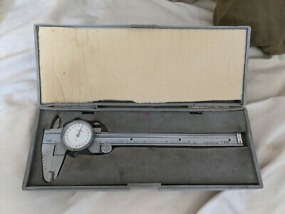 Mitutoyo Hardened Stainless 6-inch Dial Caliper - Japan 505-626