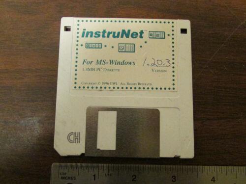 InstruNet for MS_Windows Ver. 1.20.3 1996 Electronic Instrumentation Software