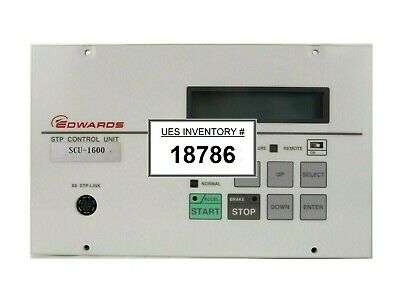 Scu-1600 Edwards Yt76-z0-z00 Turbomolecular Pump Controller Turbo Tested Working