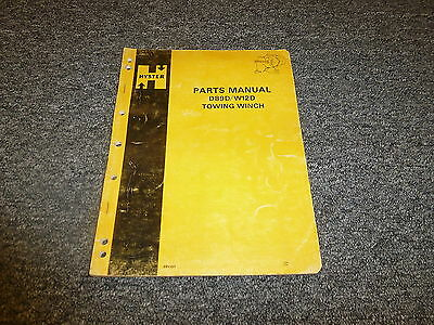 Hyster Towing Winch D89d W12d Parts Catalog Manual Tractor Dozer Book