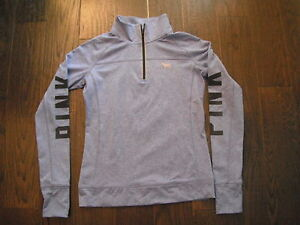 PINK Long Sleeve 1/4 Zip Top Size Small