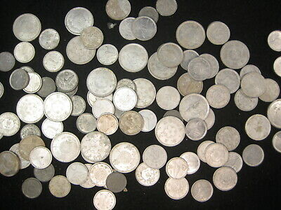 100 VINTAGE JAPANESE COINS WW2 VINTAGE ASSORTMENT OF ONE YEN TO 5 YEN OVER 100