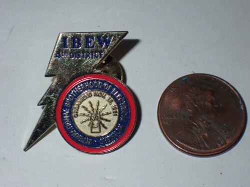 IBEW Collectible Lapel Pin 4th District
