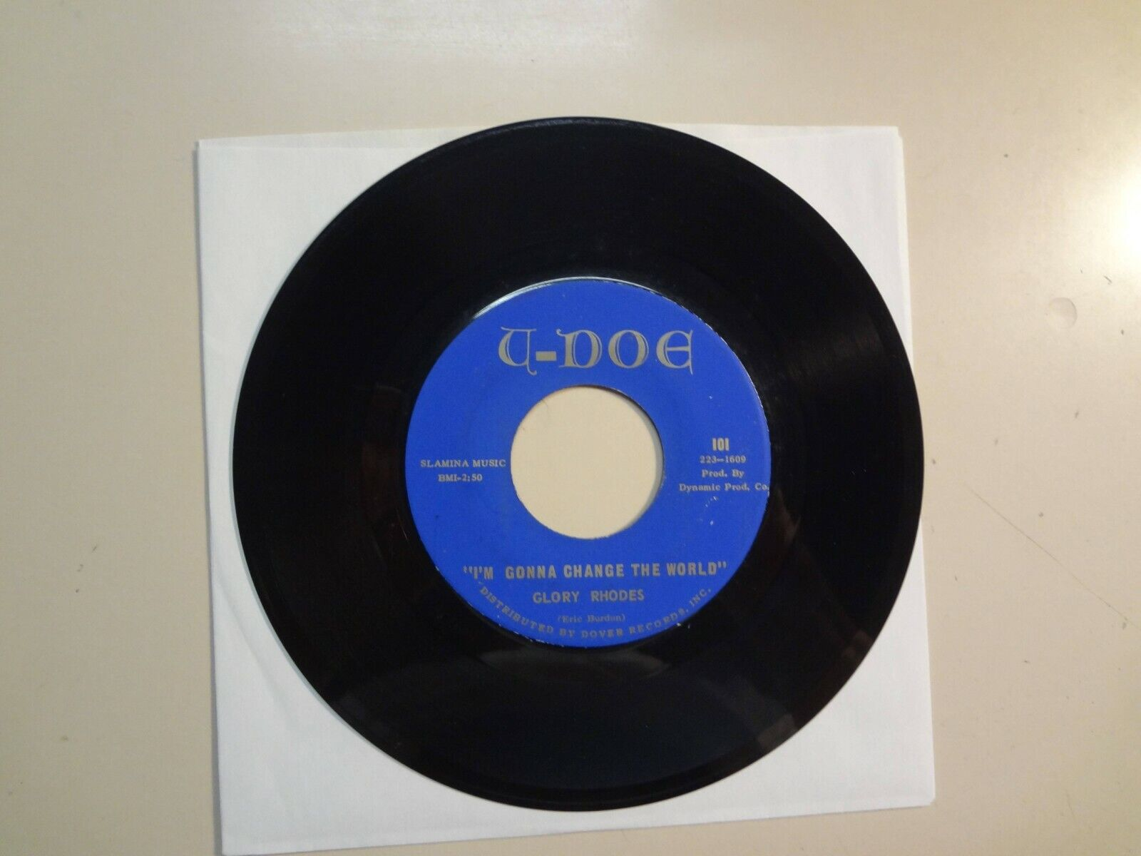 "GLORY RHODES:I'm Gonna Change The World-Stay Out Of My Way-U.S. 7"" 66 U-Doe 101"