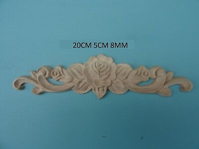 Decorative wooden rose and scroll applique furniture mouldings onlays WWJ