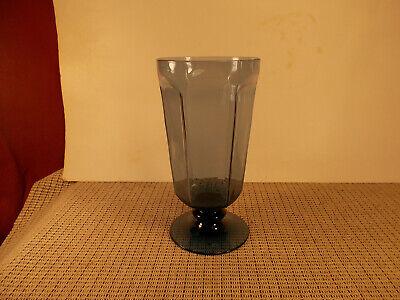 Lenox Crystal Antique Dark Blue Pattern Iced Tea Goblet 6 5/8