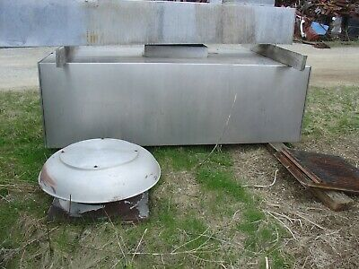 8 Exhaust Hood Vent Bbq Pit Kitchen Stainless Steel Fan Duct Work