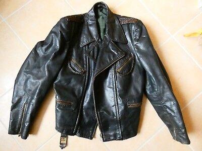Coole 50er Jahre Motorrad Halbstarken-Lederjacke Größe 48 Jacke Lederbekleidung