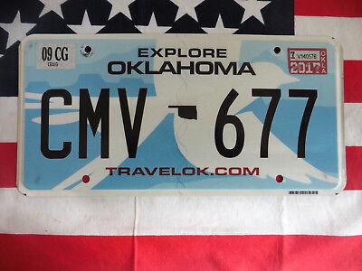 US EXPLORE OKLAHOMA CMV 677 TRAVEL AUTO CAR KENNZEICHEN NUMMERNSCHILD PLATE USA