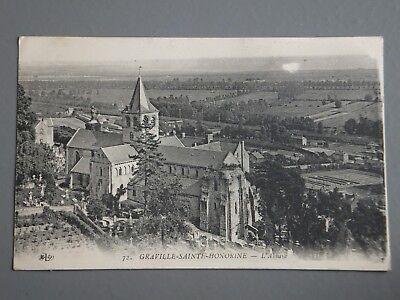 R&L Postcard: Graville Sainte Honorine, ELD, WW1 Censor Stamp