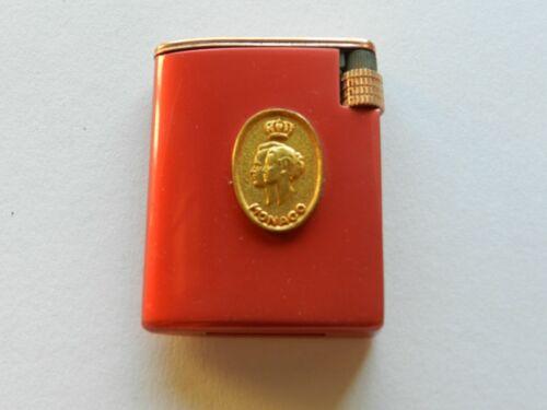 vintage lighter insignia monaco red enamel with box