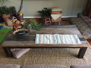 Coffee table - unfinished exotic wood