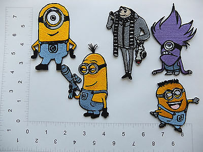 EMBROIDERED Despicable Me Minion Minions Felonious Gru Iron On Sew on Patch #407 (Despicable Me Felonious Gru)