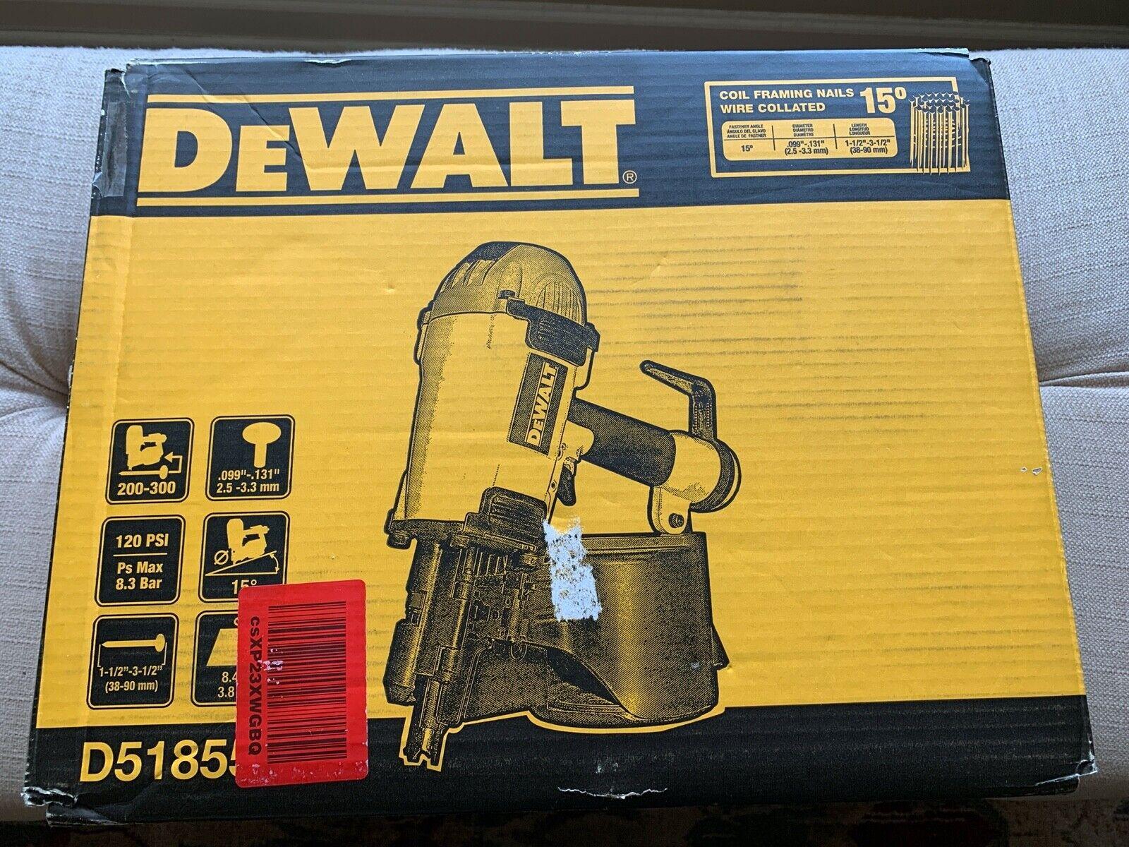 """DeWalt Roof Coil Framing Nailer Nail Gun 1-1/2"""" 3-1/2"""" Roofi"""